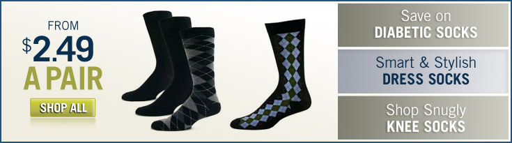 Smart and Stylish Dress Socks: Starting at $2.49 a Pair