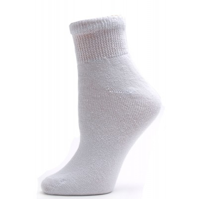 Sole Pleasers Women's White Diabetic Quarter Socks - 3 Pairs