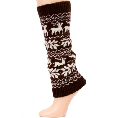 Yelete Fairisle Knit Leg Warmers - 1 Pair