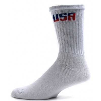 American Made Men's USA Logo Crew Socks - 3 Pairs