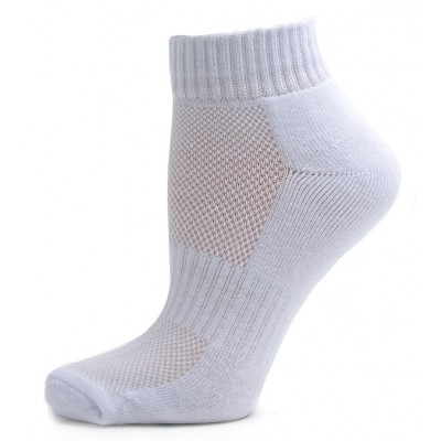 Running Mate Women's Quarter Socks - 3 Pairs - Solid White