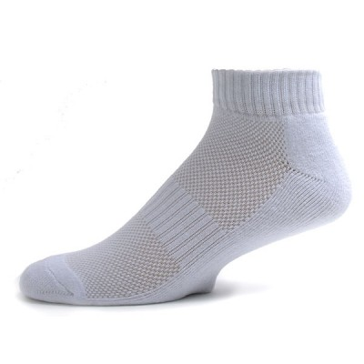Running Mate Men's Quarter Socks - 3 Pairs - Solid White