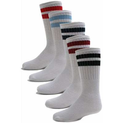 Excell Stripe Adult Tube Socks - 6 Pairs