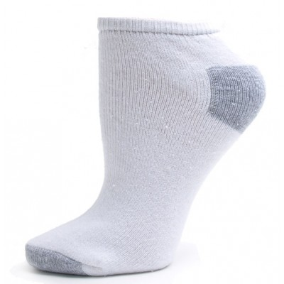 Excell Women's Full Cushion Socks - 3 Pairs - White with Gray