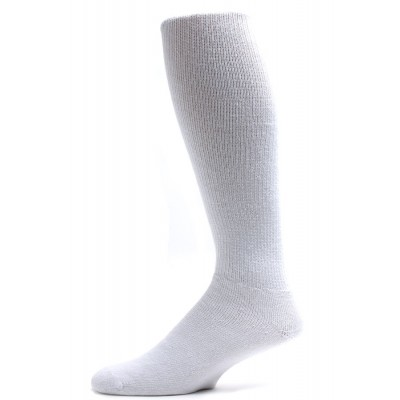 Sole Pleasers Men's King Size White Diabetic Over the Calf Socks - 3 Pairs
