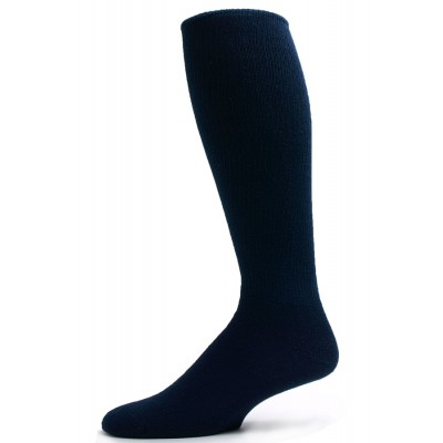 Pro-Trek Men's Navy Over the Calf Crew Socks - 3 Pairs