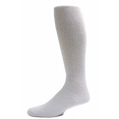 Sole Pleasers Men's White Diabetic Over the Calf Socks - 3 Pairs