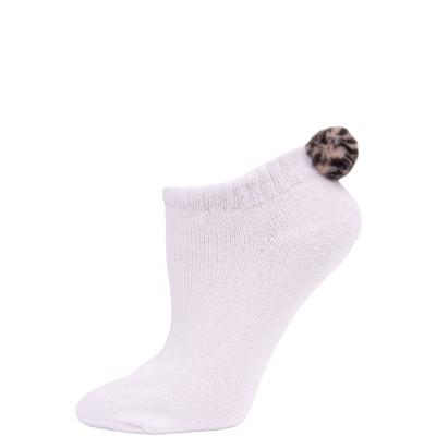 Women's Leopard Pom-Pom Socks - 1 Pairs
