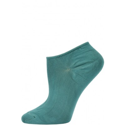 Chatties Women's Solid Color Microfiber No Show Socks - 1 Pair - Seafoam Green