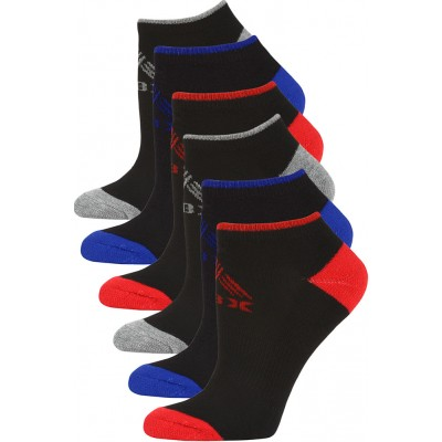 RBX Women's Athletic Low Cut Socks - 6 Pairs - Black with Basic Trim