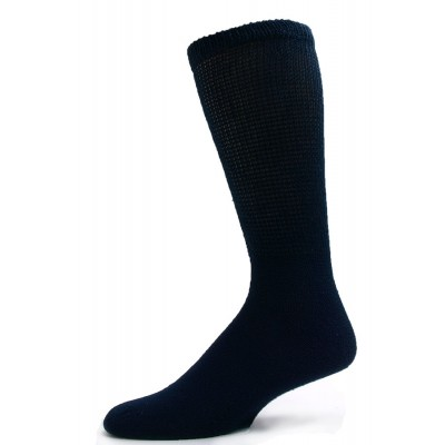 Sole Pleasers Men's Navy Diabetic Crew Socks - 3 Pairs