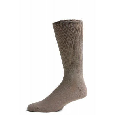 Sole Pleasers Men's Tan Diabetic Crew Socks - 3 Pairs