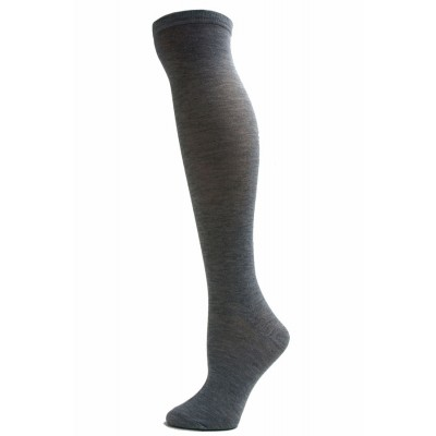 Julietta Women's Solid Colored Knee Socks - 1 Pair - Light Grey