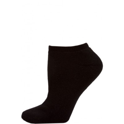 Top Pro Women's Black Athletic Low Cut Socks - 4 Pairs
