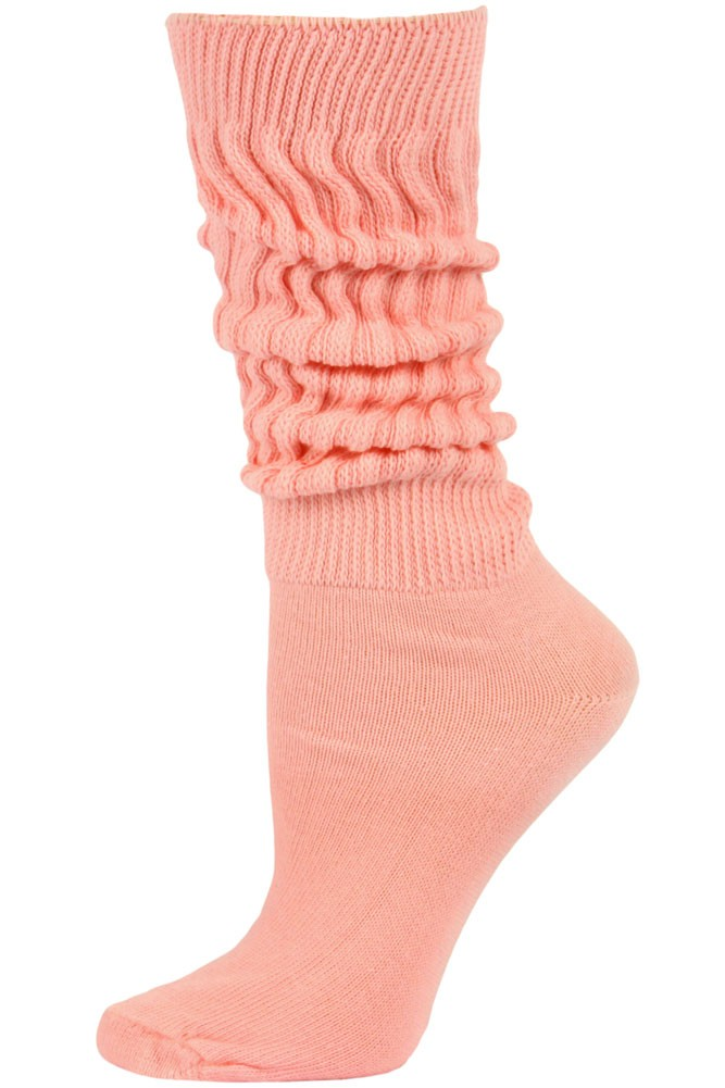 If you are a die-hard slouch sock fan and are new to this style, you may be tempted to buy lots of colors at once. If this is your first purchase of Cotton Slouch Socks, please bear in mind that they are knee-high and you may want to buy a single pair to decide if they are right for you, before you order several dozen.