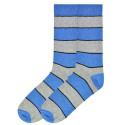K. Bell Men's Recycled Cotton Stripe Crew Socks - Blue