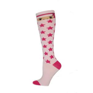 Yelete Ninja Star Knee Socks - 1 Pair - Light Pink
