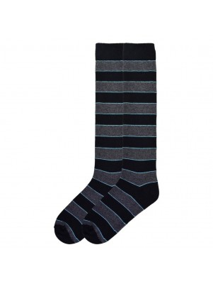 K. Bell Women's Recycled Cotton Stripe Knee High Socks - Black