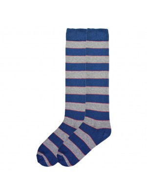 K. Bell Women's Recycled Cotton Stripe Knee High Socks - Blue