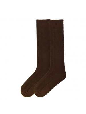 K. Bell Women's Pique Texture Straight Up Knee High Socks - Brown