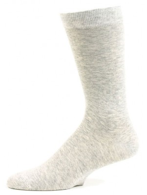 Fine Fit Men's Grey Crew Dress Socks - 1 Pair - Light Grey