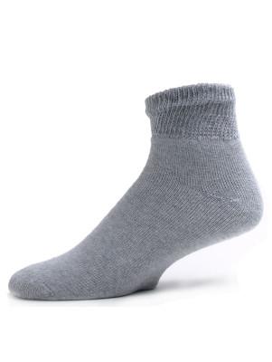 Sole Pleasers Men's Gray Diabetic Quarter Socks - 3 Pairs