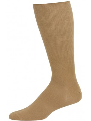 Extra Wide Men's Dress Socks - 1 Pair - Tan