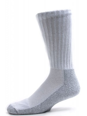 Pro-Trek Men's King Size Heavy Duty Steel Toe Gray bottom Socks - 2 Pairs