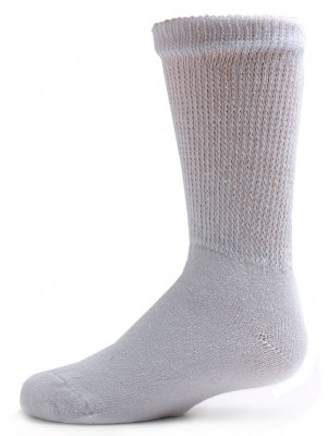 Sole Pleasers Kids' White Diabetic Crew Socks - 3 Pairs