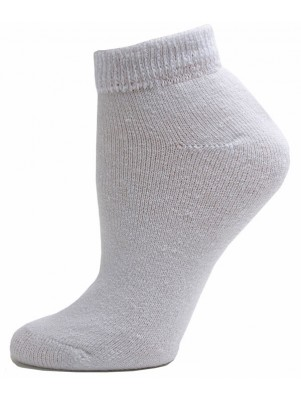 Sole Pleasers Women's White Diabetic Low-Cut Socks - 3 Pairs
