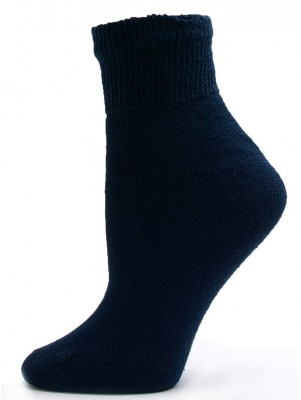 Sole Pleasers Women's Navy Diabetic Quarter Socks - 3 Pairs