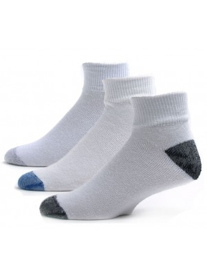 American Made Men's Quarter Assorted Socks - 3 Pairs