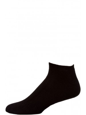 Top Pro Men's Athletic Low Cut Socks - 4 Pairs - Black