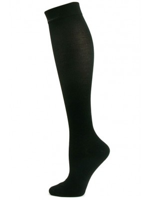 Juzo Cotton Knee High Support Socks - 1 Pair - Black