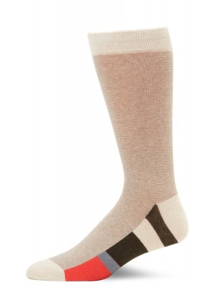 K. Bell Men's 50/50 Stripe Crew Socks - Sand