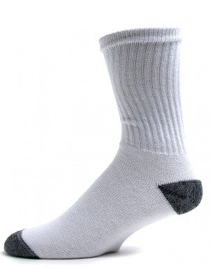 American Made Men's Black Heel and Toe Crew Socks - 3 Pairs