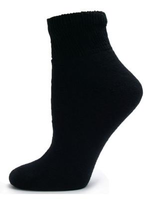 Sole Pleasers Women's Black Diabetic Quarter Socks - 3 Pairs