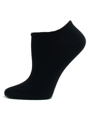 Julietta Women's Super Low Cut Socks - 3 Pairs - Black