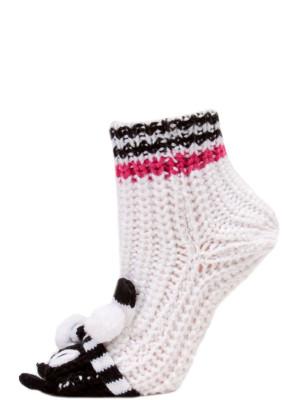 Yelete Cozy Animal Slipper Socks - 1 Pair - White