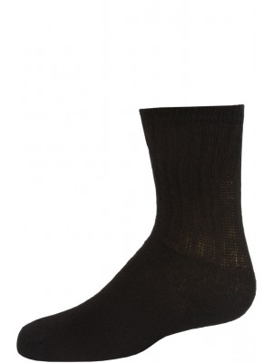 American Made Kid's Black Crew Socks - 3 Pairs - Black