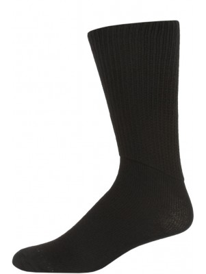 Extra Wide Cotton Tube Socks - 3 Pairs - Black