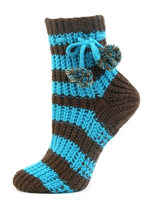 Treehouse Knits Women's Pom Pom Slipper Socks - 1 Pair