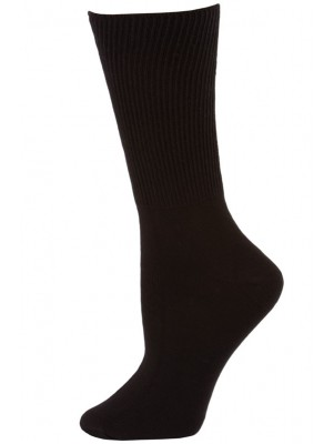 Credos Women's Black Diabetic Crew Socks - 3 Pairs