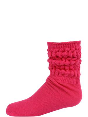 Millennium Kids' Slouch Socks - 1 Pair - Hot Pink