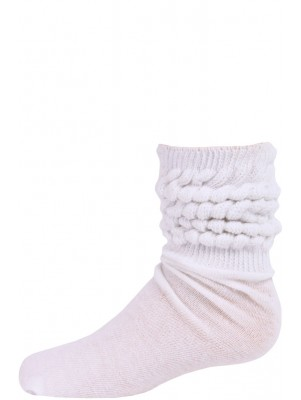 Millennium Kids' Slouch Socks - 1 Pair - White