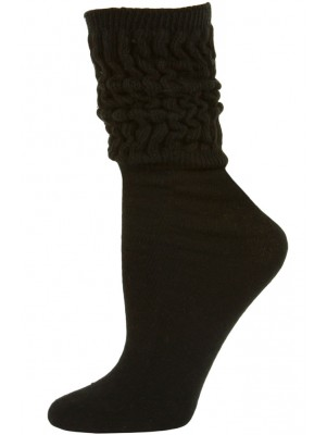 Millennium Women's Slouch Socks - 1 Pair - Black