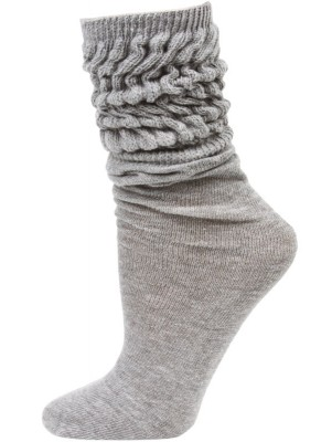Millennium Kid's Slouch Socks - 1 Pair - Grey