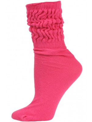 Millennium Women's Slouch Socks - 1 Pair - Hot Pink
