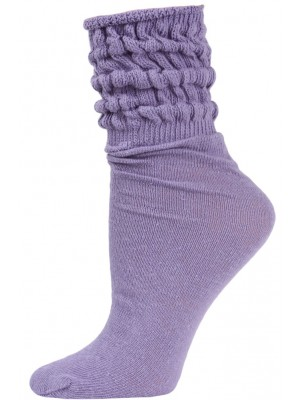 Millennium Women's Slouch Socks - 1 Pair - Lilac Purple