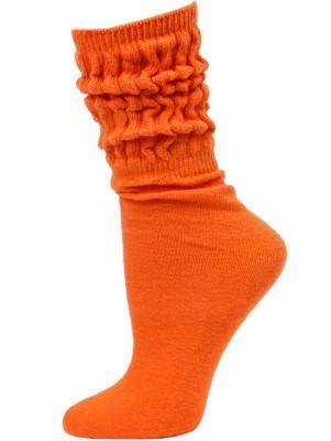 Millennium Women's Slouch Socks - 1 Pair - Orange